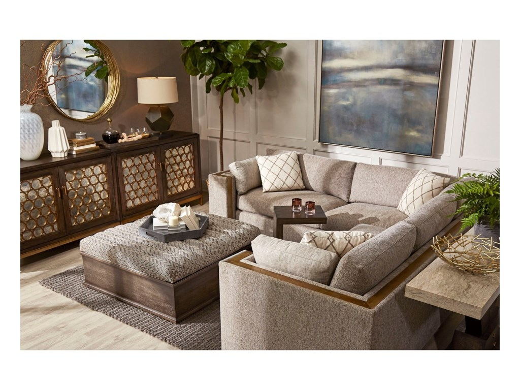 A.R.T. Furniture Inc WoodWright UpholsterySectional Sofa