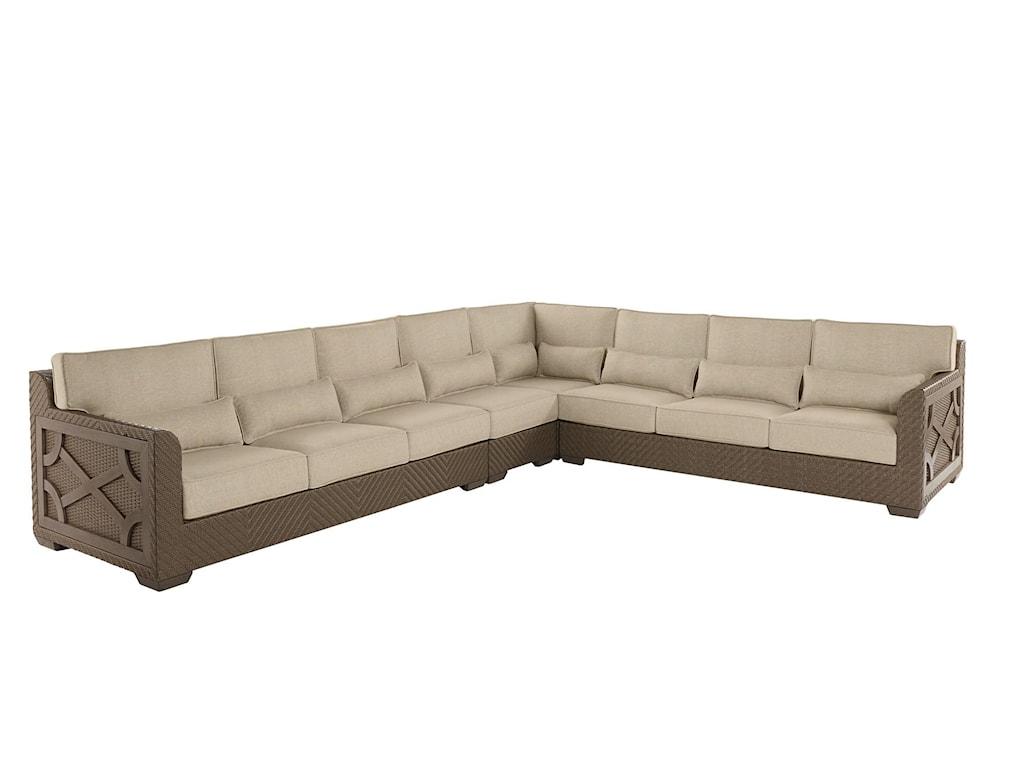 A.R.T. Furniture Inc 933-Arch SalvageLeft Arm Facing Loveseat