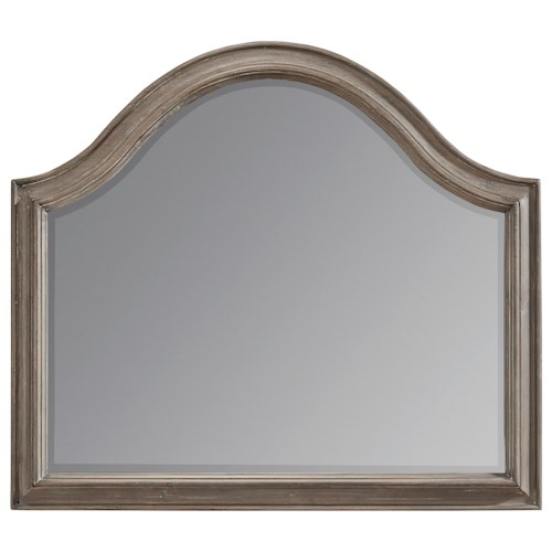 A.R.T. Furniture Inc Allie Solid Pine Arched Mirror in Weathered Gray Finish