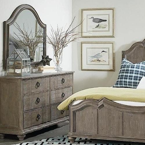 A.R.T. Furniture Inc Allie Solid Pine Dresser & Mirror