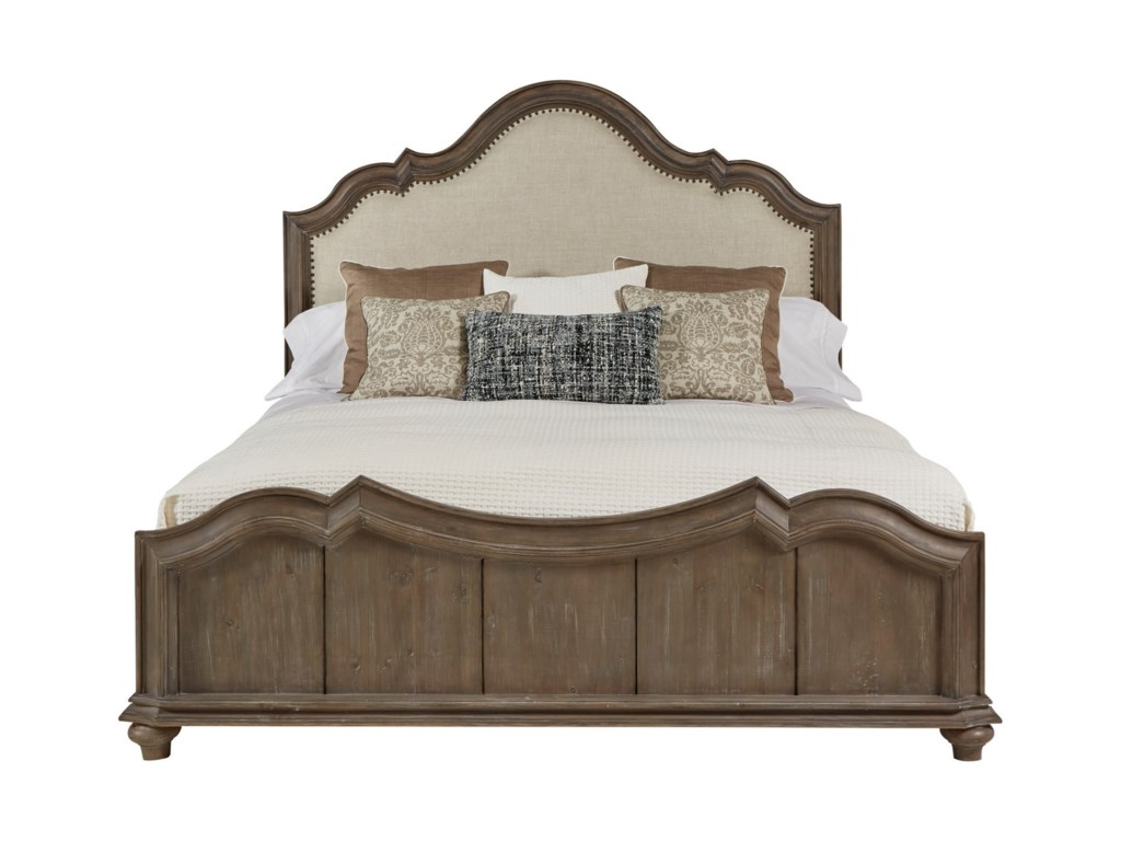 A.R.T. Furniture Inc AllieQueen Upholstered Panel Bed