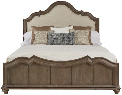 A.R.T. Furniture Inc Allie Solid Pine King Upholstered Panel Bed