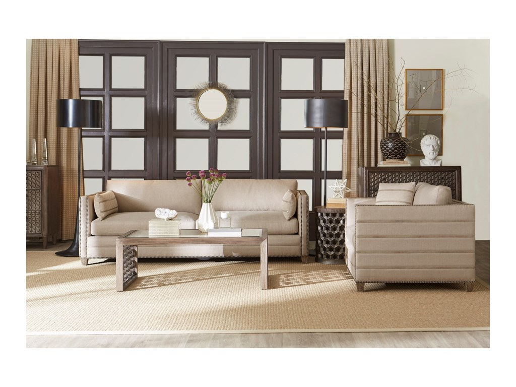 A.R.T. Furniture Inc Allister GreigeStationary Living Room Group