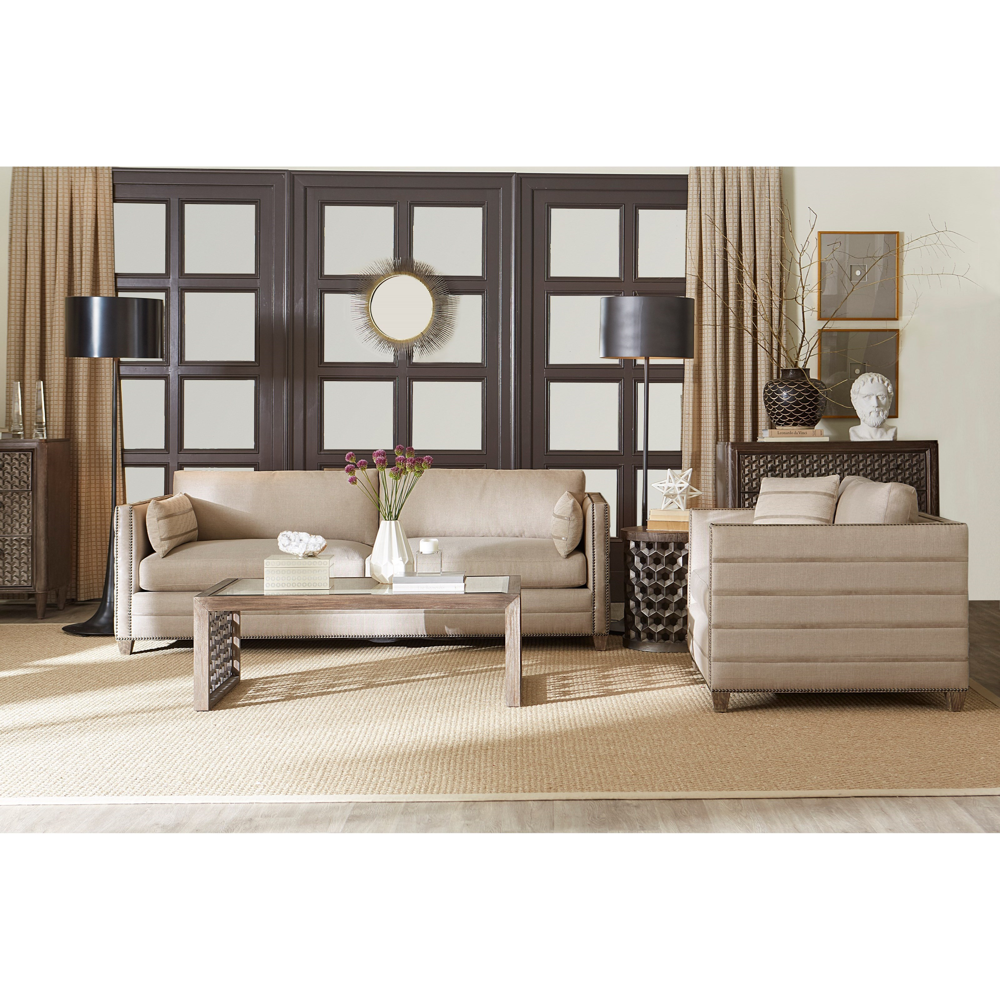 Superbe A.R.T. Furniture Inc Allister Greige Stationary Living Room Group