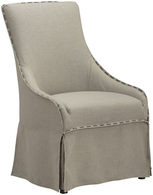 A.R.T. Furniture Inc American Chapter Upholstered Cask Host Chair with Skirt