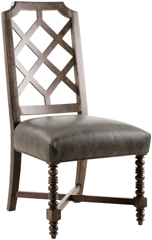 A.R.T. Furniture Inc American Chapter Distiller's Side Chair with Top-Grain Leather Seat