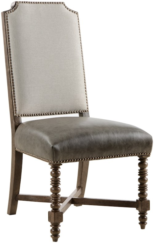 A.R.T. Furniture Inc American Chapter Distiller's Upholstered Back Side Chair