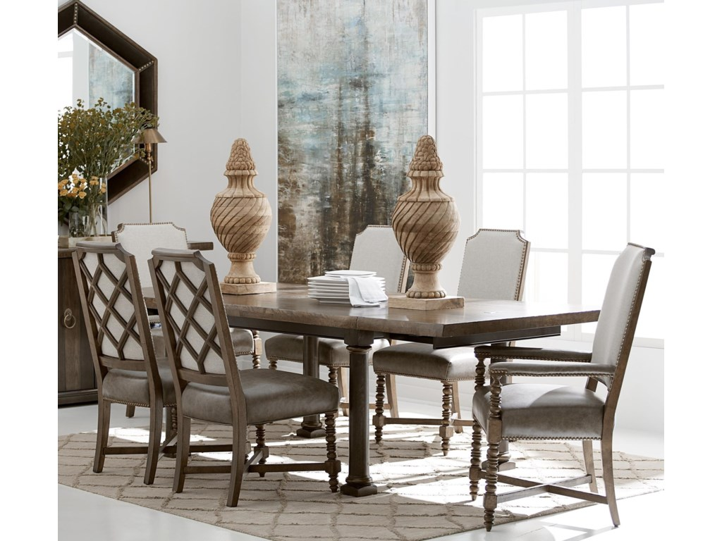 The Great Outdoors American Chapter7-Piece Live Edge Dining Table Set