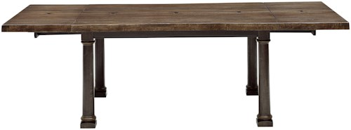 A.R.T. Furniture Inc American Chapter Live Edge Dining Table with Breadboard Leaves