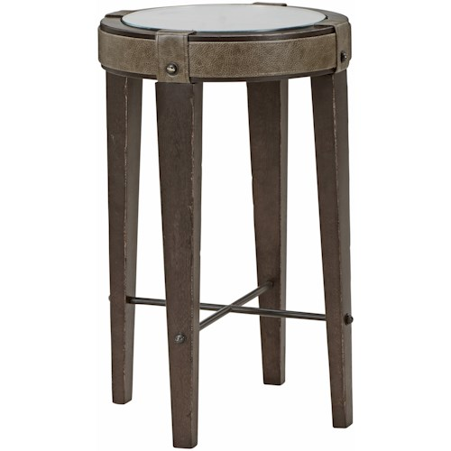 A.R.T. Furniture Inc American Chapter Bourbon Boutique Spot Table with Leather Accents