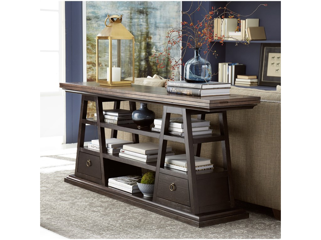 The Great Outdoors American ChapterLive-Edge Flip-Top Console Table