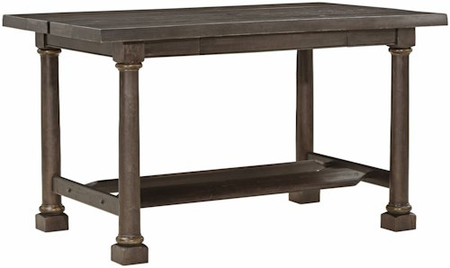 A.R.T. Furniture Inc American Chapter Live-Edge Activity Table with Flip Tops and Outlets