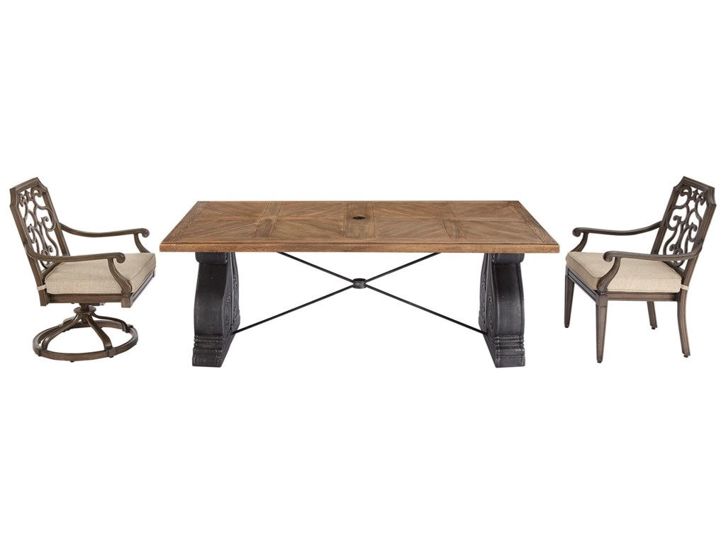 The Great Outdoors Arch Salvage OutdoorLyon Rectangular Dining Table