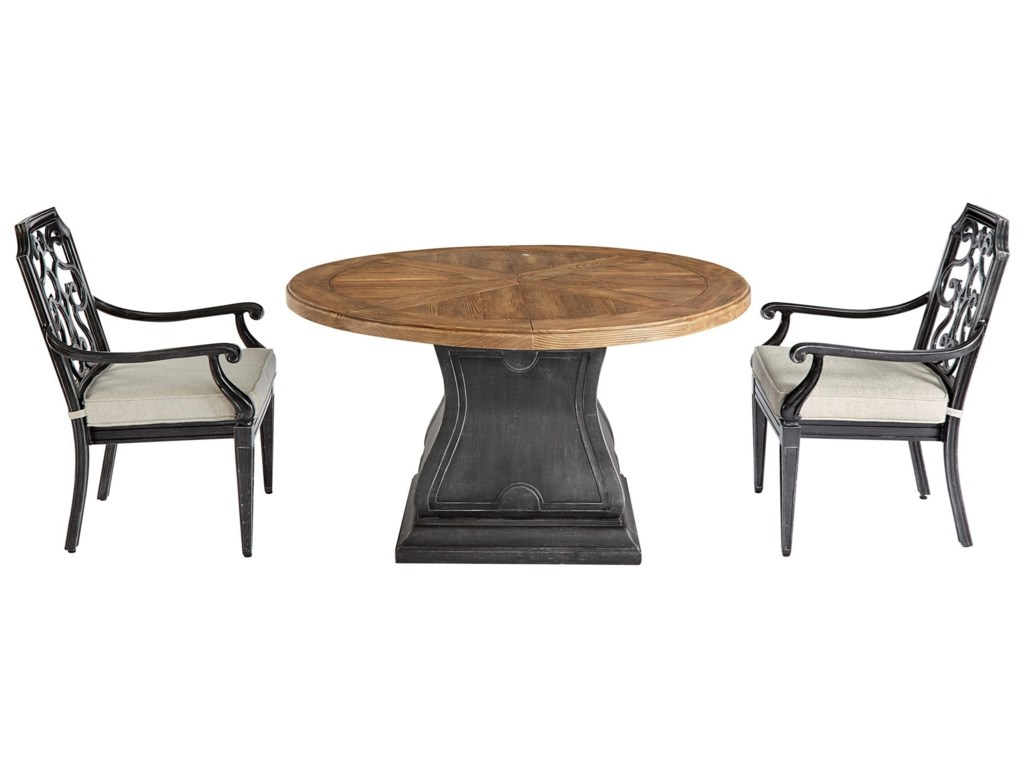 The Great Outdoors Arch Salvage OutdoorLyon Round Dining Table