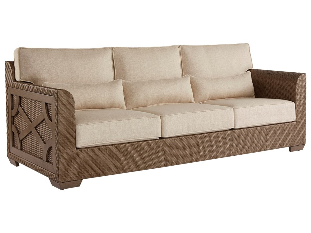 A.R.T. Furniture Inc Arch Salvage OutdoorFlorence Wicker Sofa