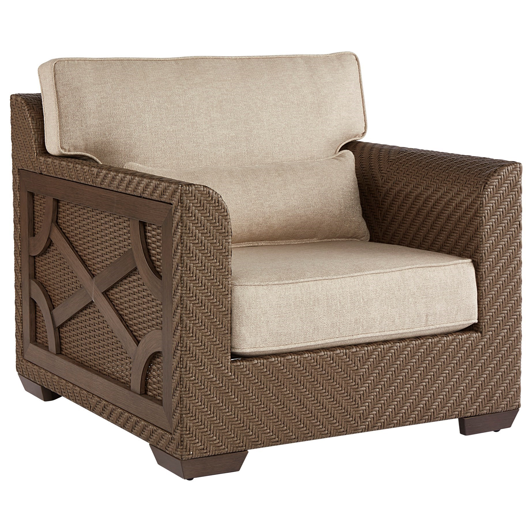 A.R.T. Furniture Inc Arch Salvage Outdoor Florence Wicker Club Chair