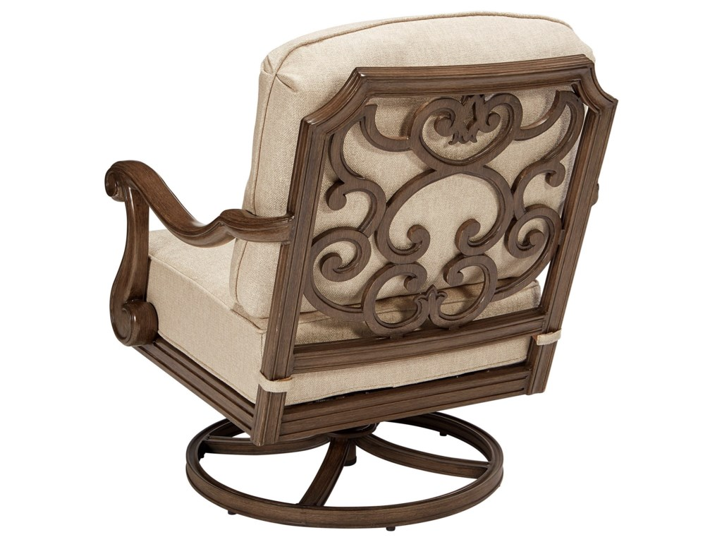 The Great Outdoors Arch Salvage OutdoorCannes Swivel Rocking Club Chair