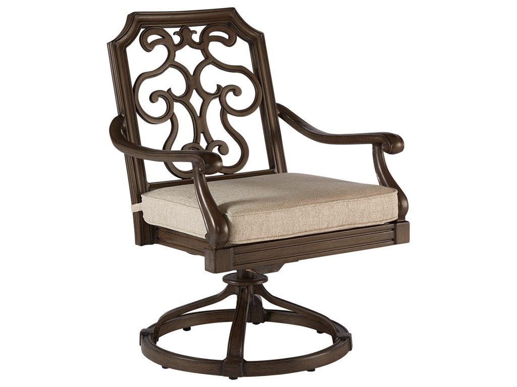 Compositions Arch Salvage OutdoorGabrielle Swivel Dining Rocker