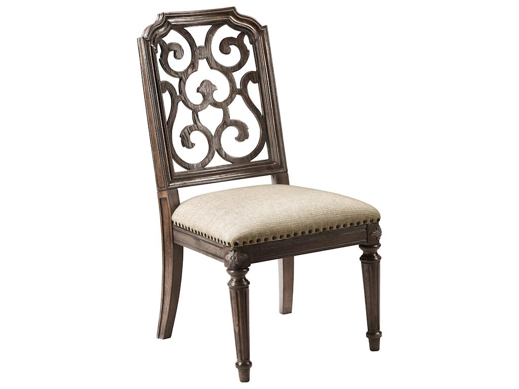 A.R.T. Furniture Inc Vintage Salvage Tristan Fret Back Side Chair