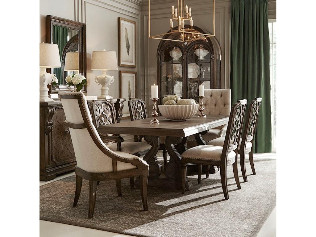 A.R.T. Furniture Inc Vintage Salvage 7-Piece Rectangular Dining Table Set