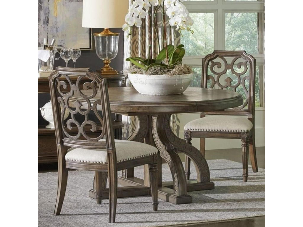 A.R.T. Furniture Inc Vintage Salvage 3-Piece Aiden Dining Table Set