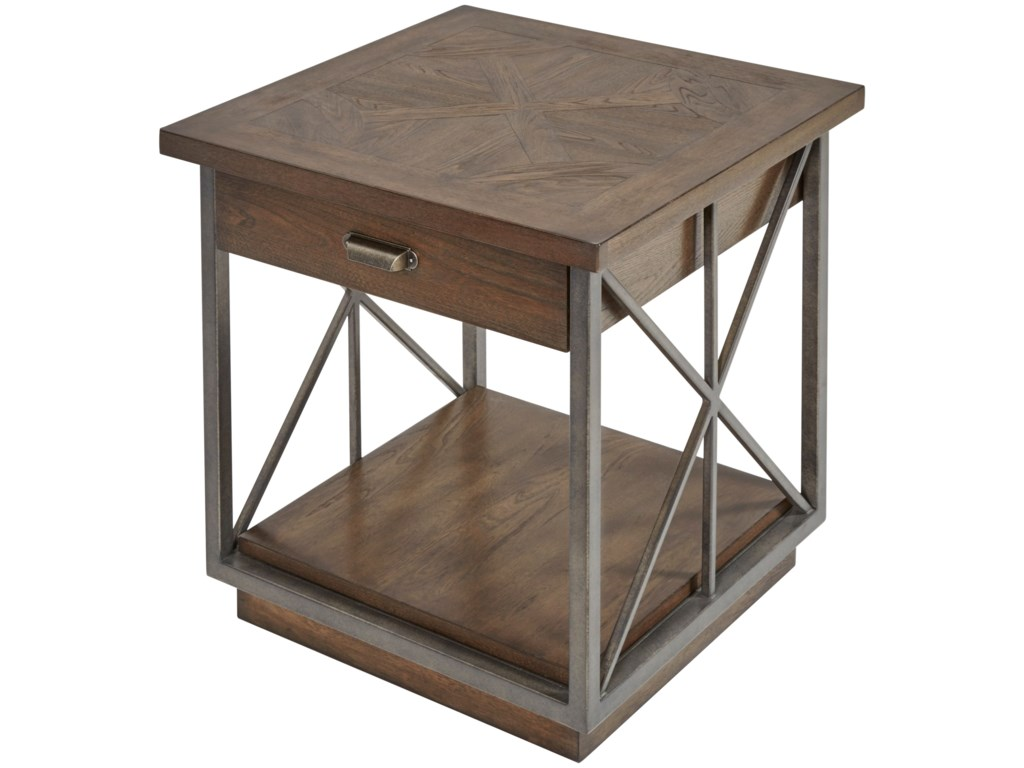Compositions Vintage Salvage Burton End Table