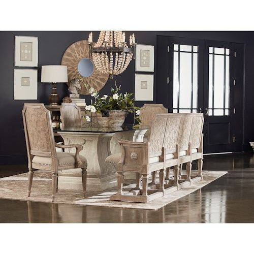 A.R.T. Furniture Inc Arch Salvage Formal Dining Room Group