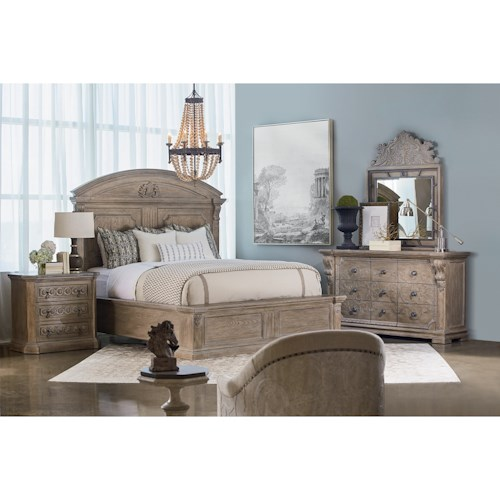 A.R.T. Furniture Inc Arch Salvage Queen Bedroom Group