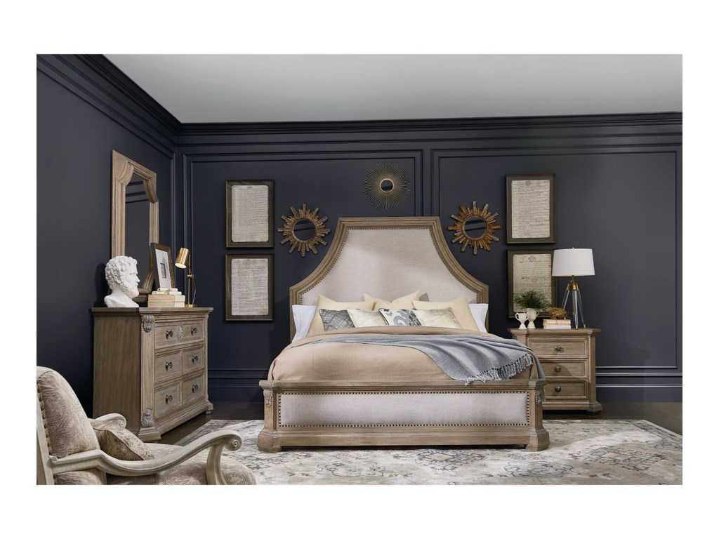 A.R.T. Furniture Inc Arch SalvageQueen Bryce Upholstered Bed