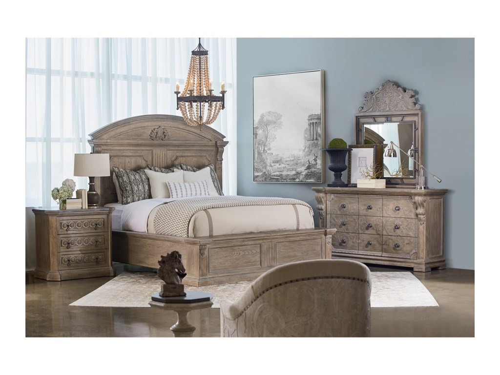 A.R.T. Furniture Inc Arch SalvageQueen Chambers Panel Bed