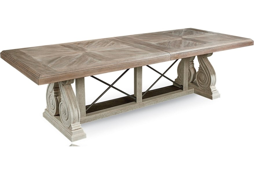 A R T Furniture Inc Arch Salvage 233221 2802 Pearce Dining Table Baer S Furniture Dining Tables