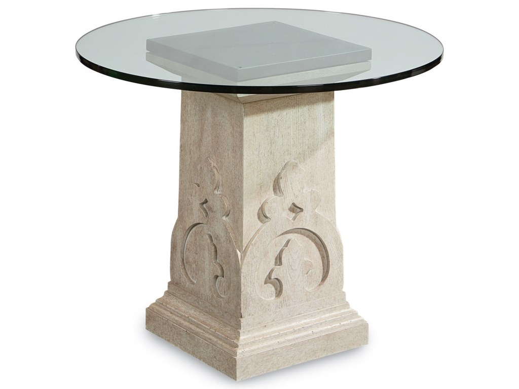 The Great Outdoors Arch SalvageKeyes Martini Table with Glass Top