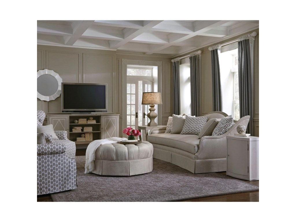 A.R.T. Furniture Inc AvaTufted Back Skirted Wing Chair