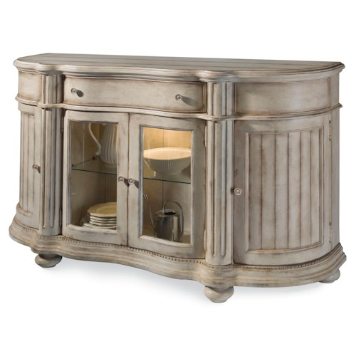 Belfort Signature Farrington Serpentine Shaped Sideboard With Turret Shaped Pilasters