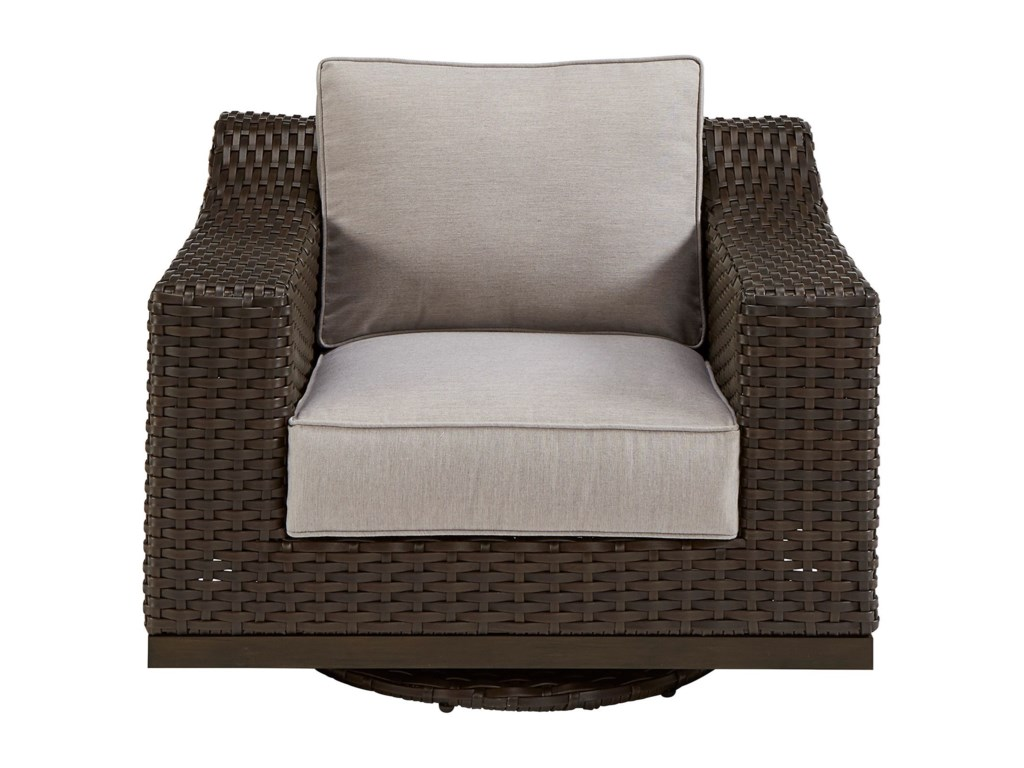 The Great Outdoors Brannon OutdoorSwivel Club Chair