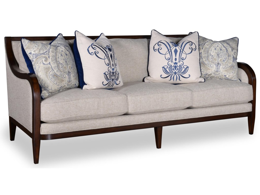 A R T Furniture Inc Bristol3 Seat Sofa With Tapered Legs