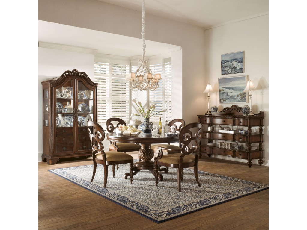 Shown With Display Cabinet Butterfly Chairs And Sideboard