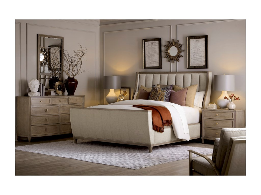 A.R.T. Furniture Inc CityscapesQueen Chelsea Upholstered Shelter Sleigh Bed