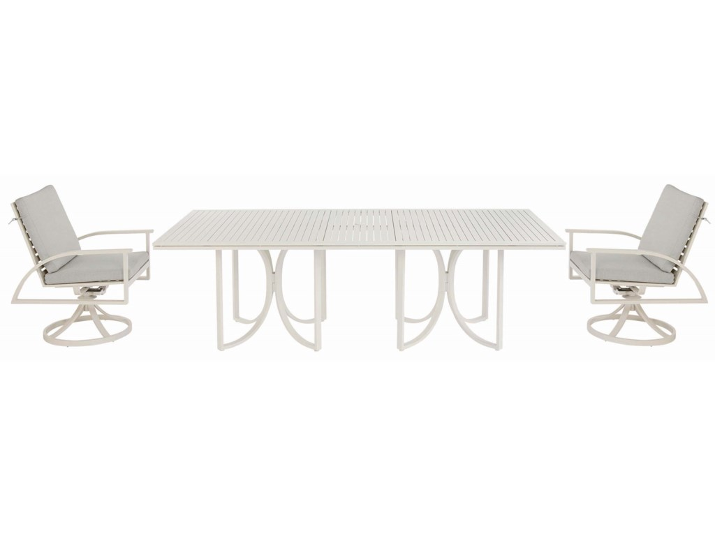The Great Outdoors Cityscapes OutdoorEmpire Slat Top Rect. Dining Table
