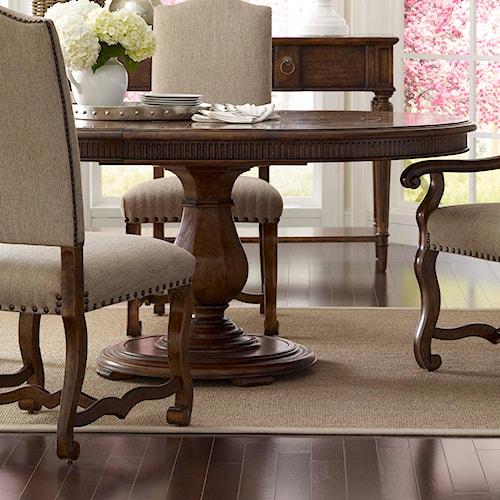Belfort Signature Belle Haven Keton Round Dining Table with Pedestal Base
