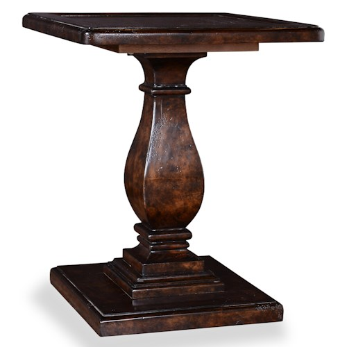 Belfort Signature Belle Haven Lambert Accent Table with Shaped Pedestal Base