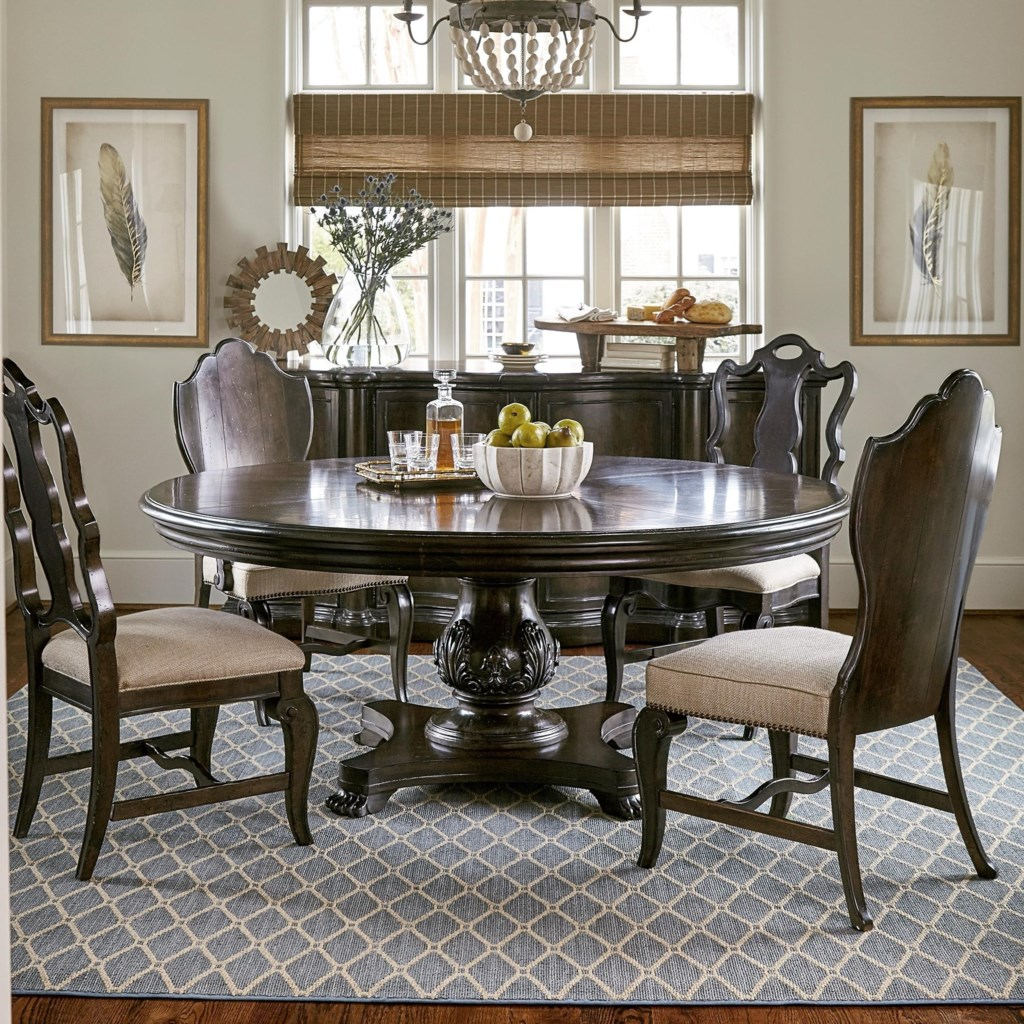 "A R T Furniture Inc Continental 5 Piece 72"" Round Dining Table"