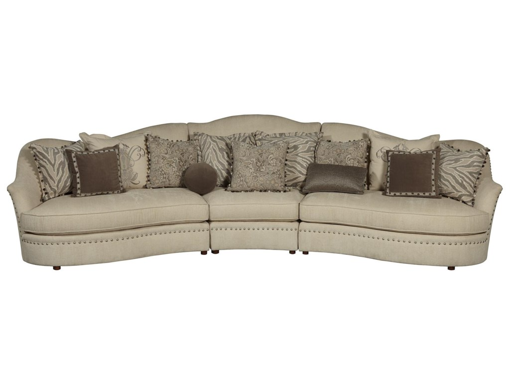 A.R.T. Furniture Inc Amanda - Ivory 204509-5008S3 3-Piece Sectional ...