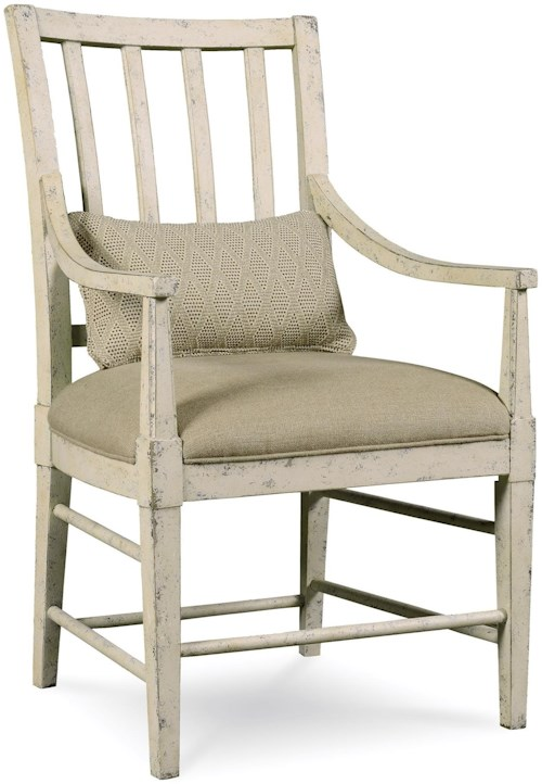 A.R.T. Furniture Inc Echo Park Slat Back Arm Chair with Kidney Pillow