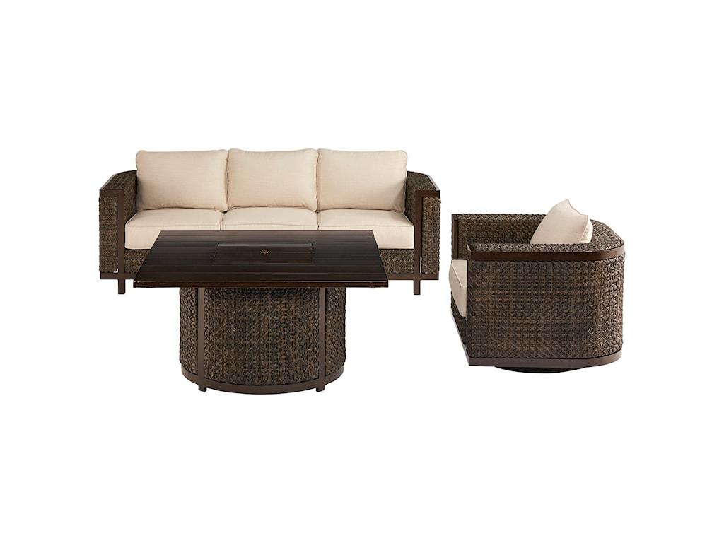 The Great Outdoors Malibu OutdoorWicker Sofa