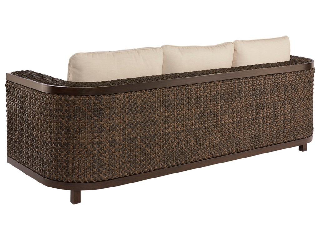 Epicenters Outdoor Bwood Wicker Sofa By A R T Furniture Inc At Home Collections