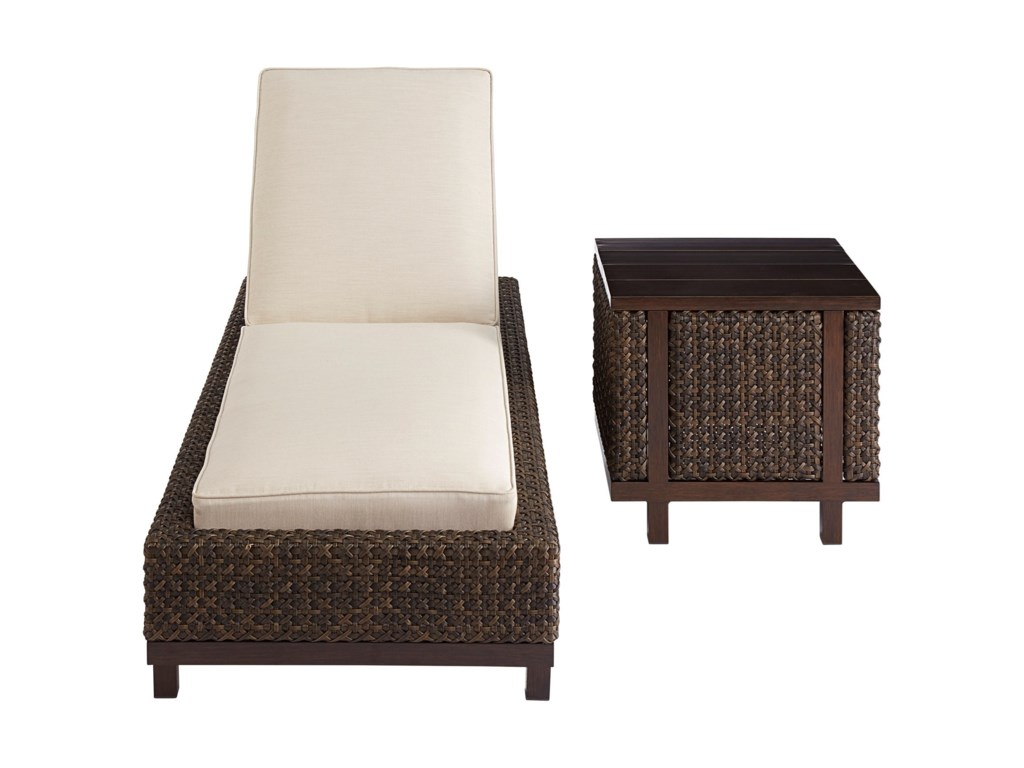The Great Outdoors Malibu OutdoorWicker Chaise Lounge