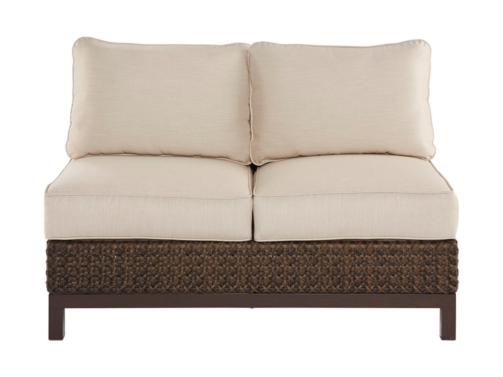 A.R.T. Furniture Inc Epicenters OutdoorBrentwood Wicker Armless Loveseat
