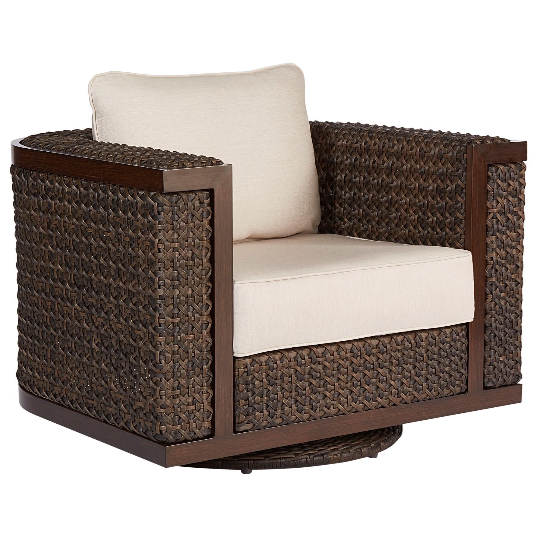 Attirant A.R.T. Furniture Inc Epicenters OutdoorBrentwood Wicker Swivel Rocking Club  Chair ...