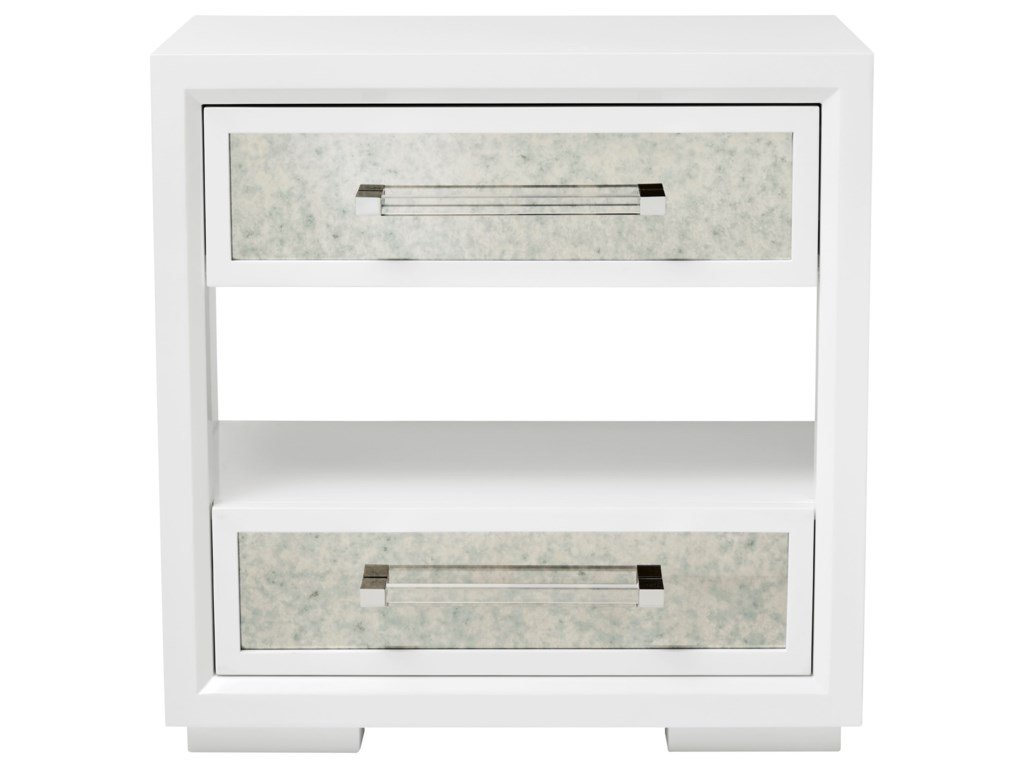The Great Outdoors Epicenters 33127 Brickell Mirrored Nightstand